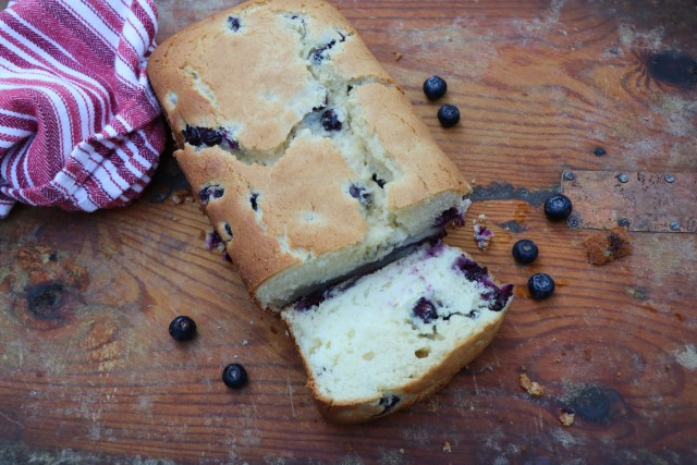 Lemon Blueberry Cream Cheese Bread