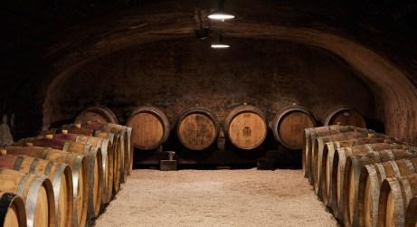 wine cave at Château De Pommard