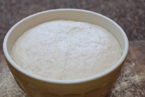 Bread dough that has risen