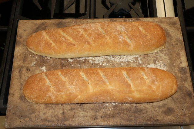 baked loaves of French Bread