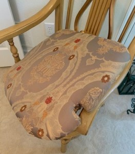 chair with cushion popped out