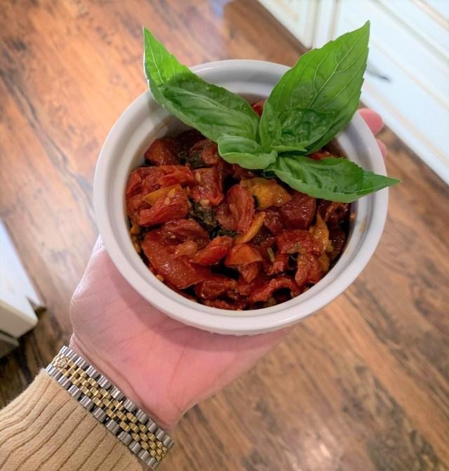 Finished Tomato Jam recipe.