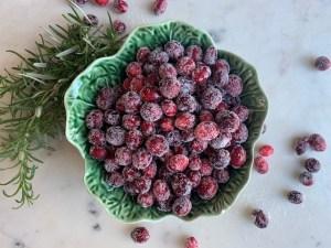 Sugared Cranberry Recipe- A Festive Garnish