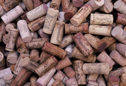 Corks from the wines of Burgundy, France