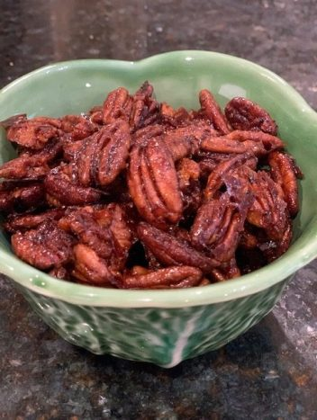 Sweet and spicy pecans recipe