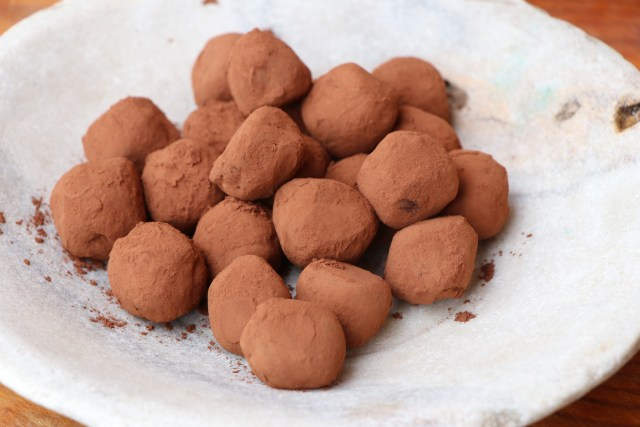 Close up of Cointreau Dark Chocolate Truffle Recipe