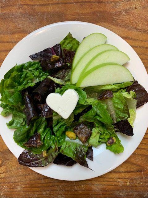 Pretty Heart Salad with Fig Vinaigrette Recipe