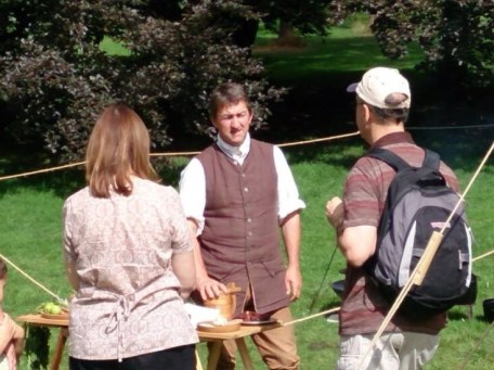 Demonstrating 18th century food at Tyntesfield