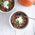 Pumpkin Ground Beef Chili