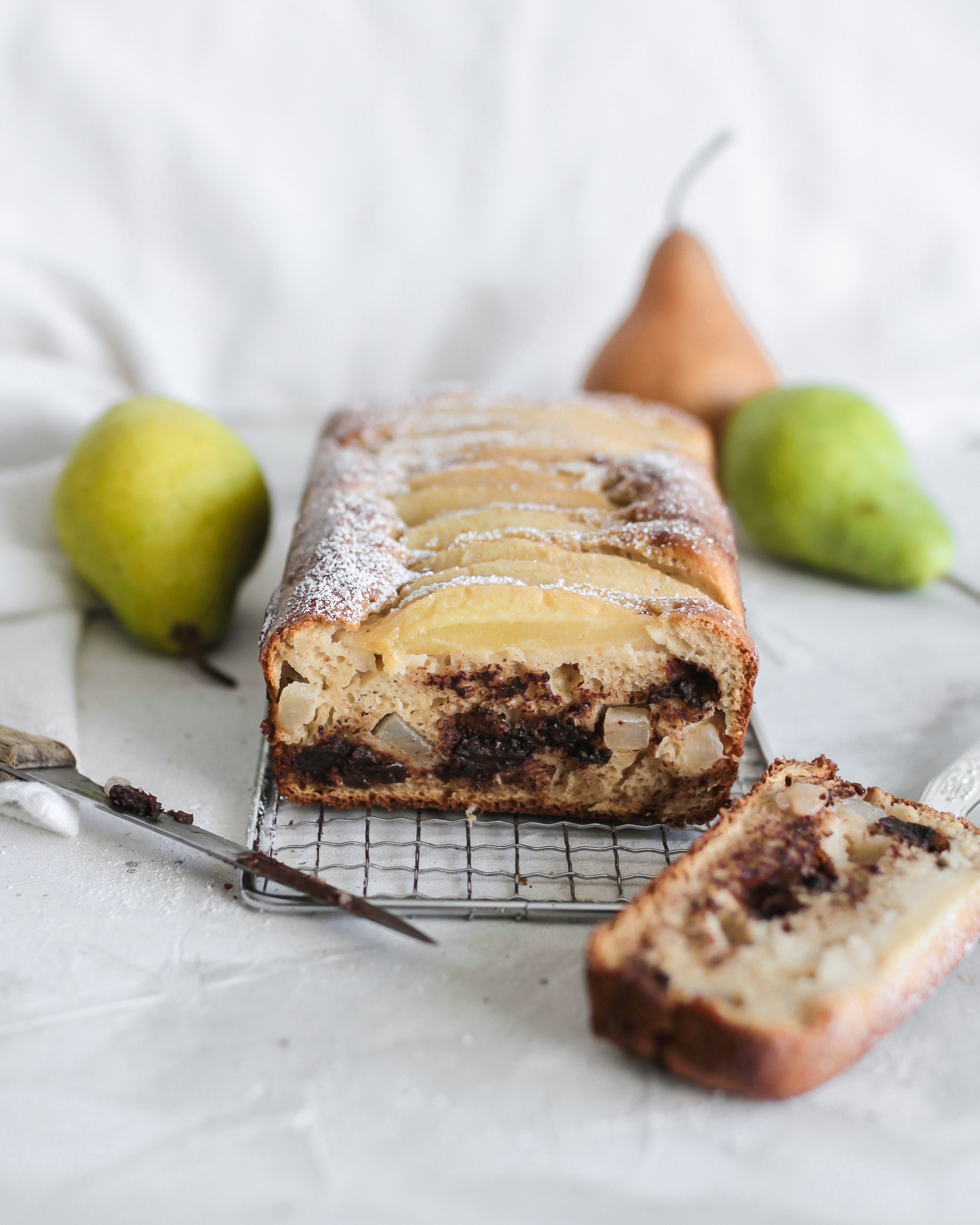 Pear Chocolate Ginger Loaf