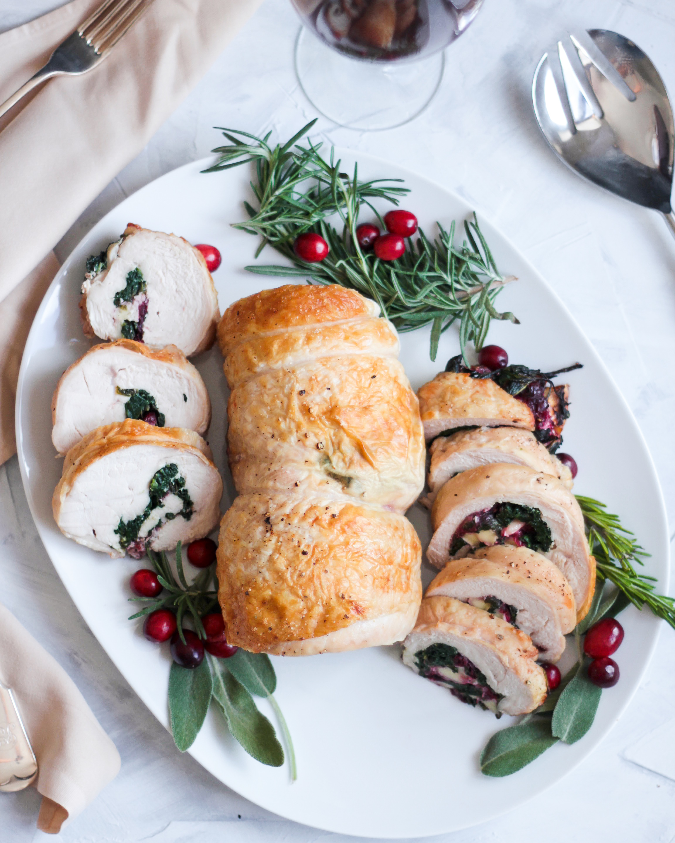 Cranberry Brie Stuffed Turkey Roulade A Taste Of Wellbeing