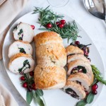 Cranberry Brie Stuffed Turkey Roulade