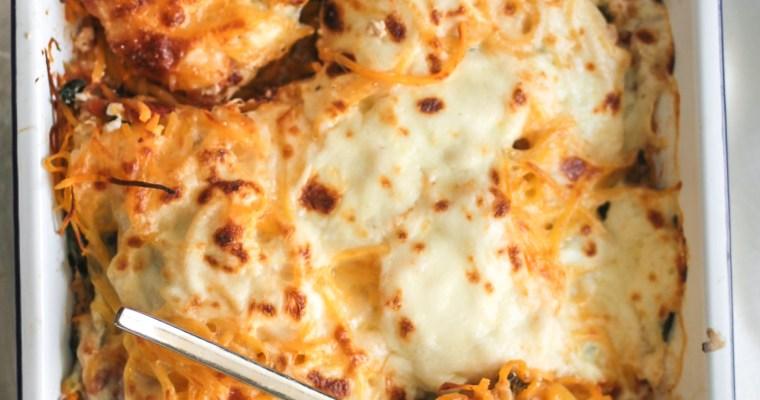 No Pasta Turkey Kale Lasagna Bake