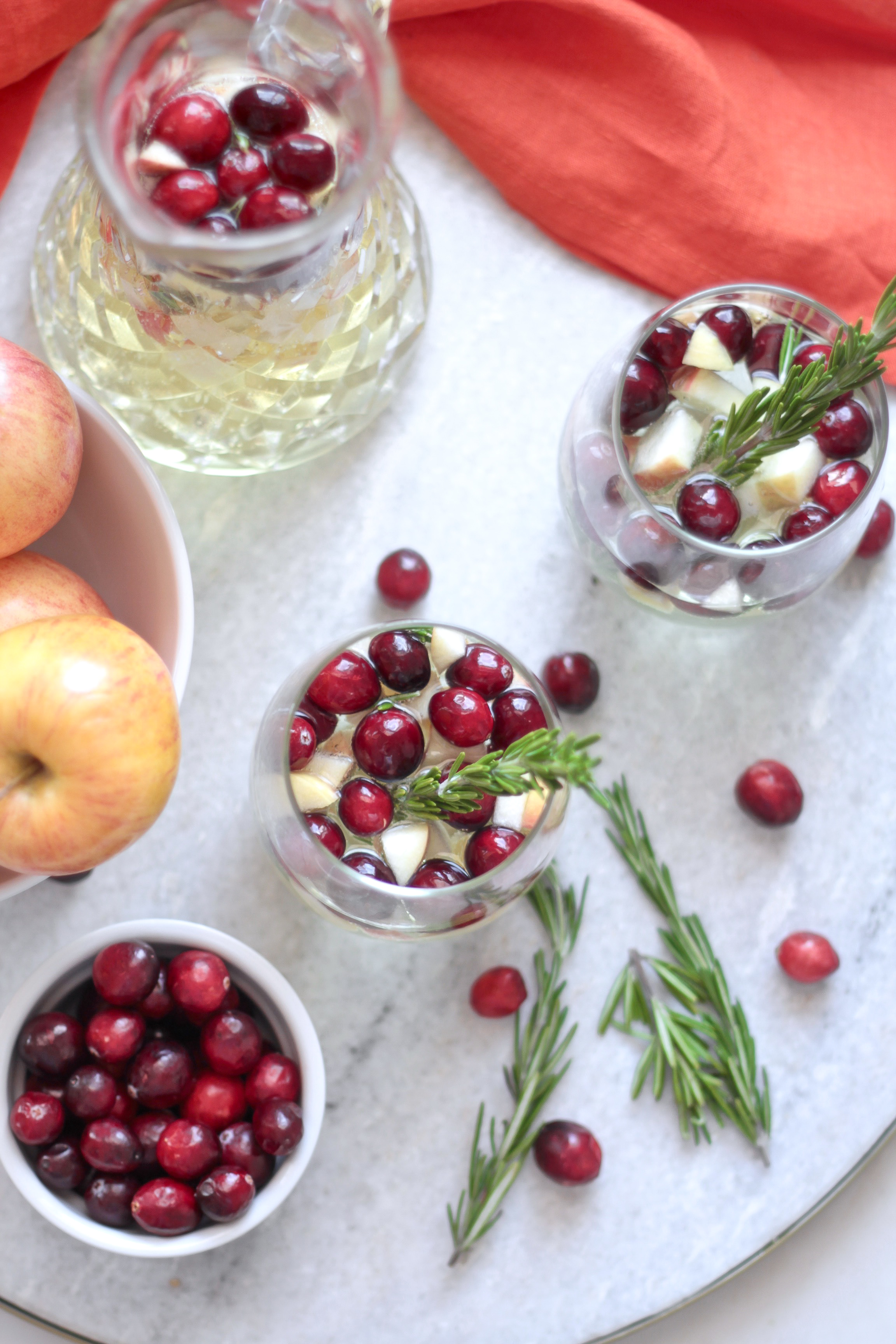 Cranberry Apple White Wine Sangria