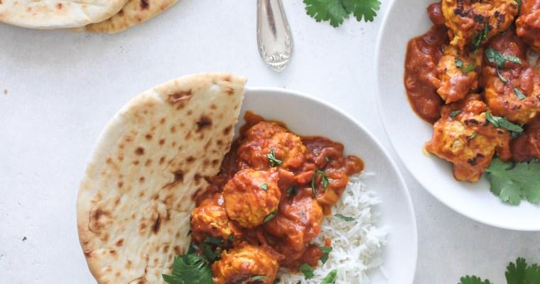 Easy Indian Butter Chicken Meatballs