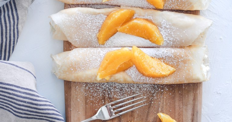 Orange Ricotta Crepes