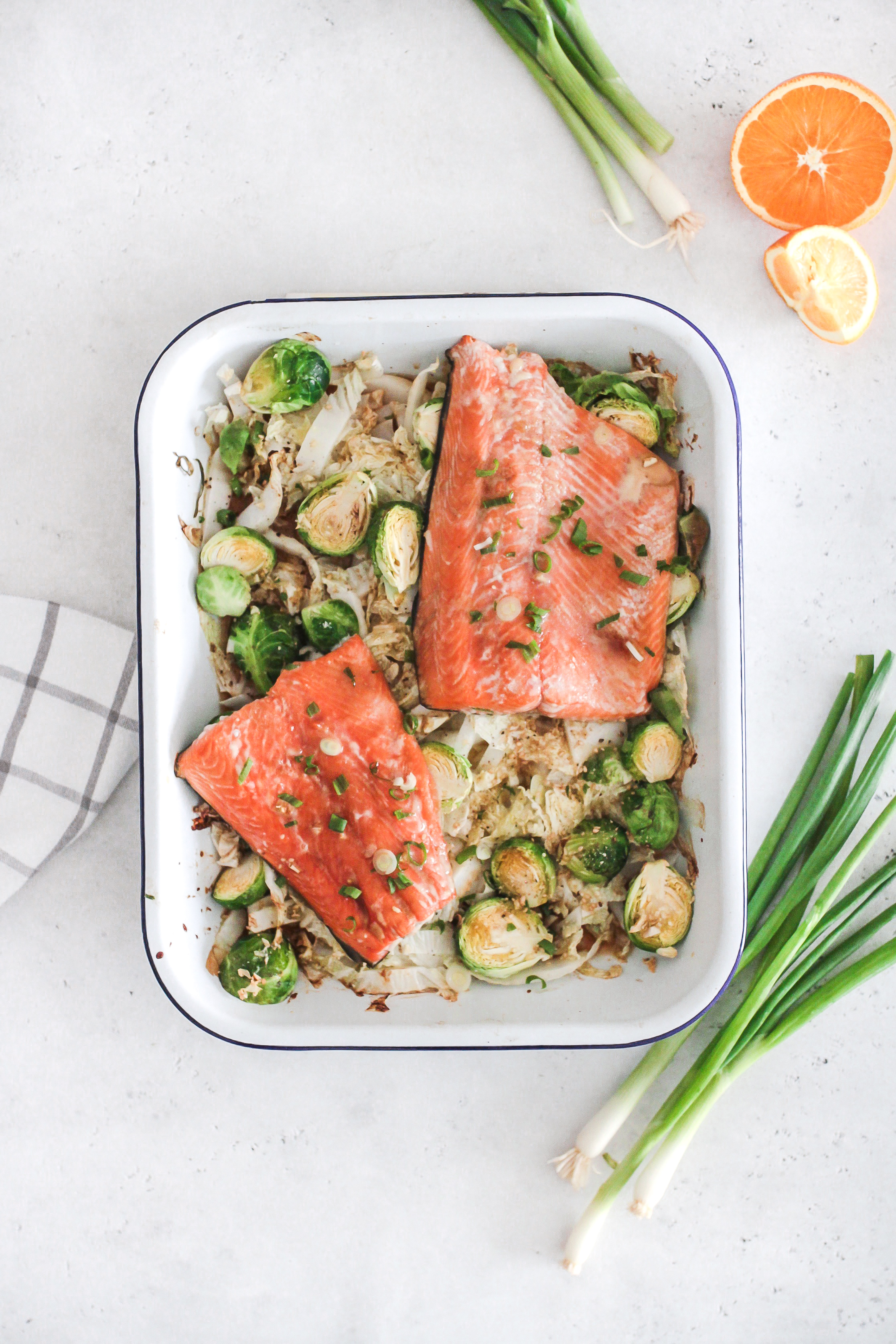 One Pan Orange Ginger  Salmon