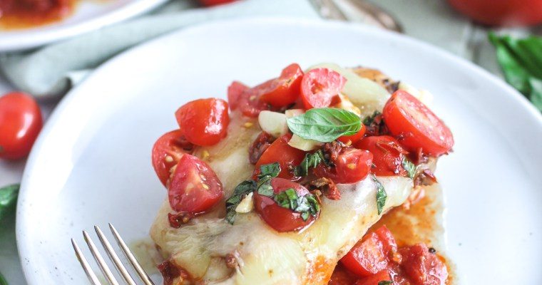 Bruschetta Mozzarella Baked Chicken