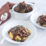 Red Wine Braised Beef with Polenta