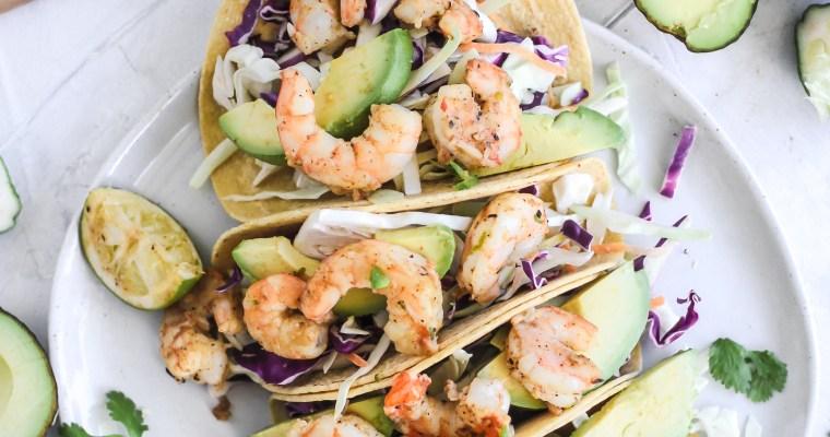 Fiesta Lime Tequila Shrimp Tacos