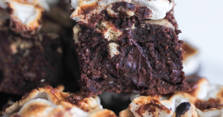 Dark Chocolate S'more Brownies