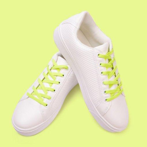 Atacadores elásticos Ata® cor amarelo fluorescente