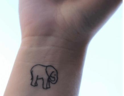 01 Small Wrist Elephant Tattoo
