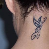 Neck butterfly tattoo designs