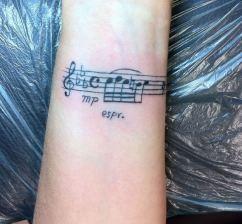 03 Music note tattoo