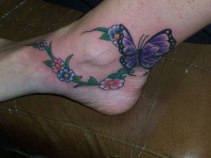 18 Flowers & Butterfly Tattoo