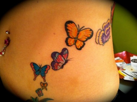 Belly butterfly tattoo designs 10