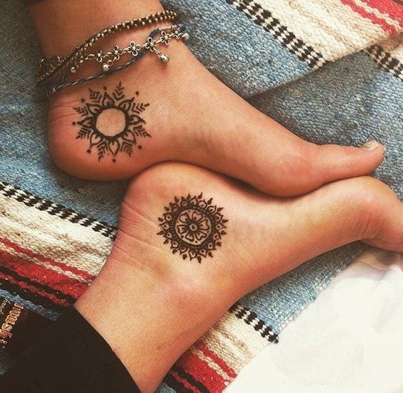 Asian matching best friend tattoo on ankle - Tattoo Designs for Women