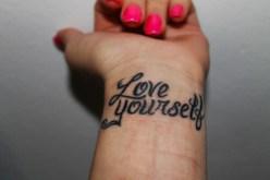 wrist tatoo love yourself