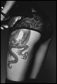 Dragon tattoo on thigh http://tattoo.uf9.info/female-dragon-tattoo-ideas/