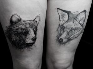 Bear and fox https://www.instagram.com/p/BRB9FMKBwj2/
