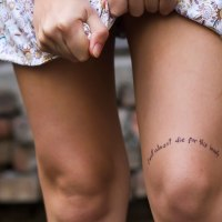 Amazing tattoos above knee