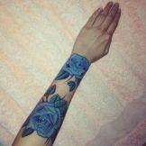 Blue Roses Tattoo
