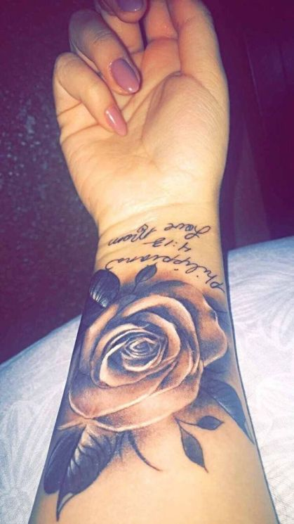 Tattoo with a quote