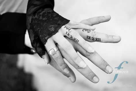 Wedding finger date tattoos