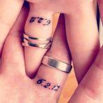 Wedding ring date tattoos ideas