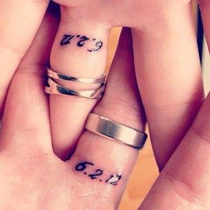 Wedding ring date tattoos ideas