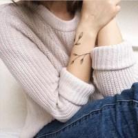 Feminine Armband Leaf Tattoo