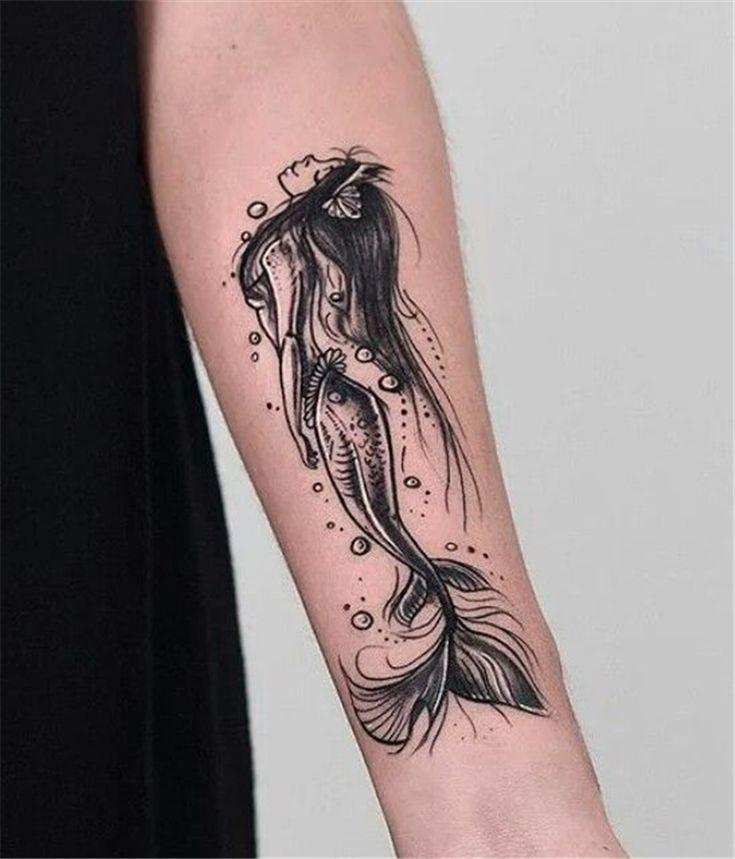 Beautiful mermaid tattoo ideas on arm