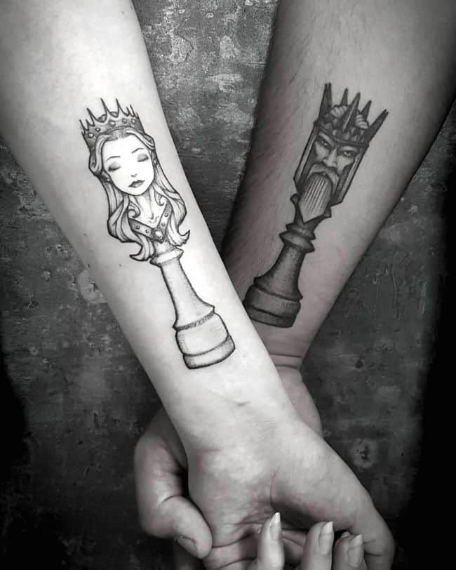 Amazing King and Queen tattoos