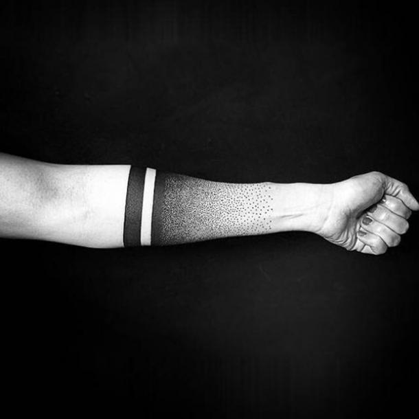 Disappearing dots tattoo and armband