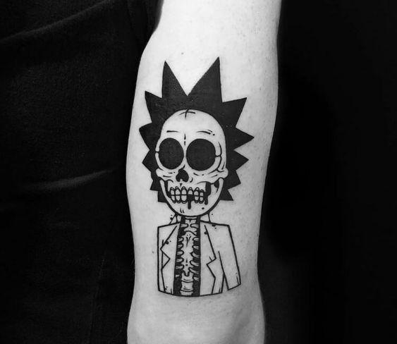 Rick's skeleton tattoo