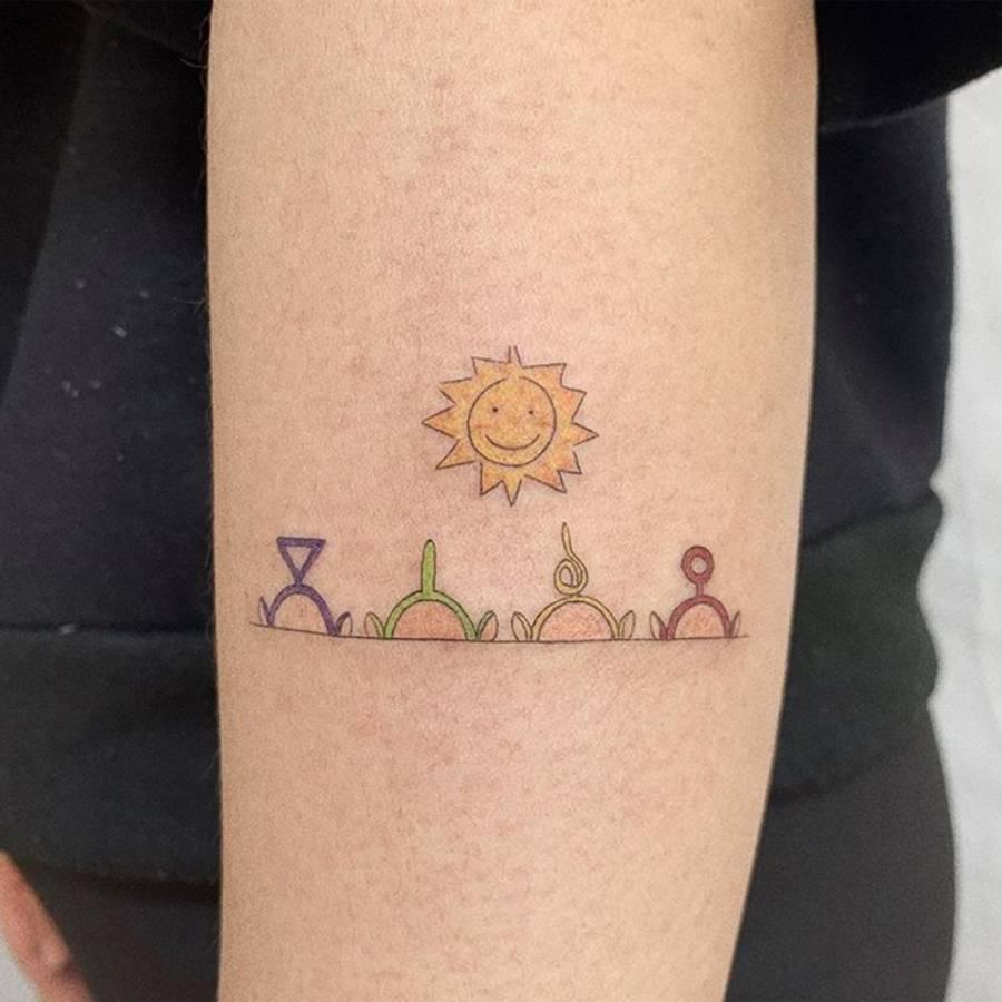 Teletubbies tattoo ideas for girl