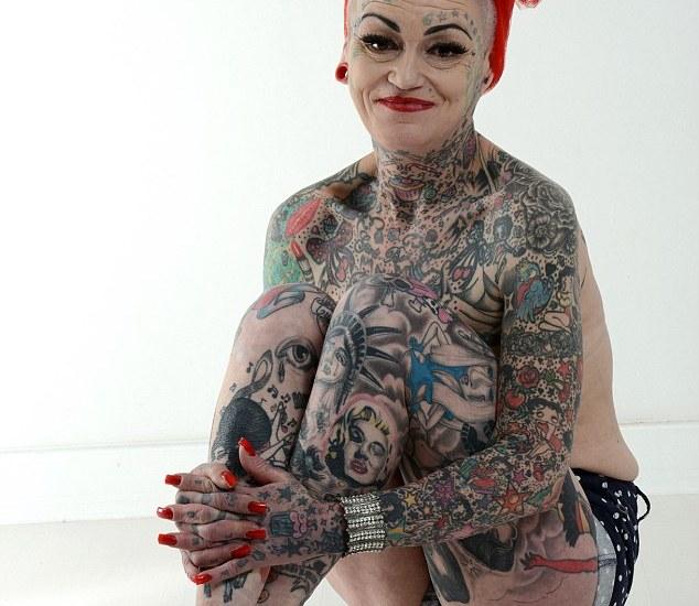 Women ful body tattoo