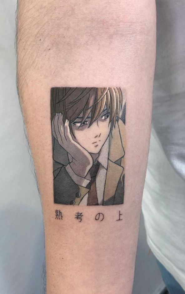 Anime boy tattoo ideas