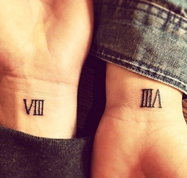 Roman number eight tattoo
